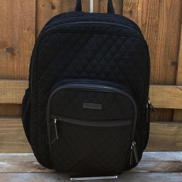 3e3776a4a1c1 Vera Bradley Iconic Black Campus Backpack. M 5b672847dcf8554af1f48356